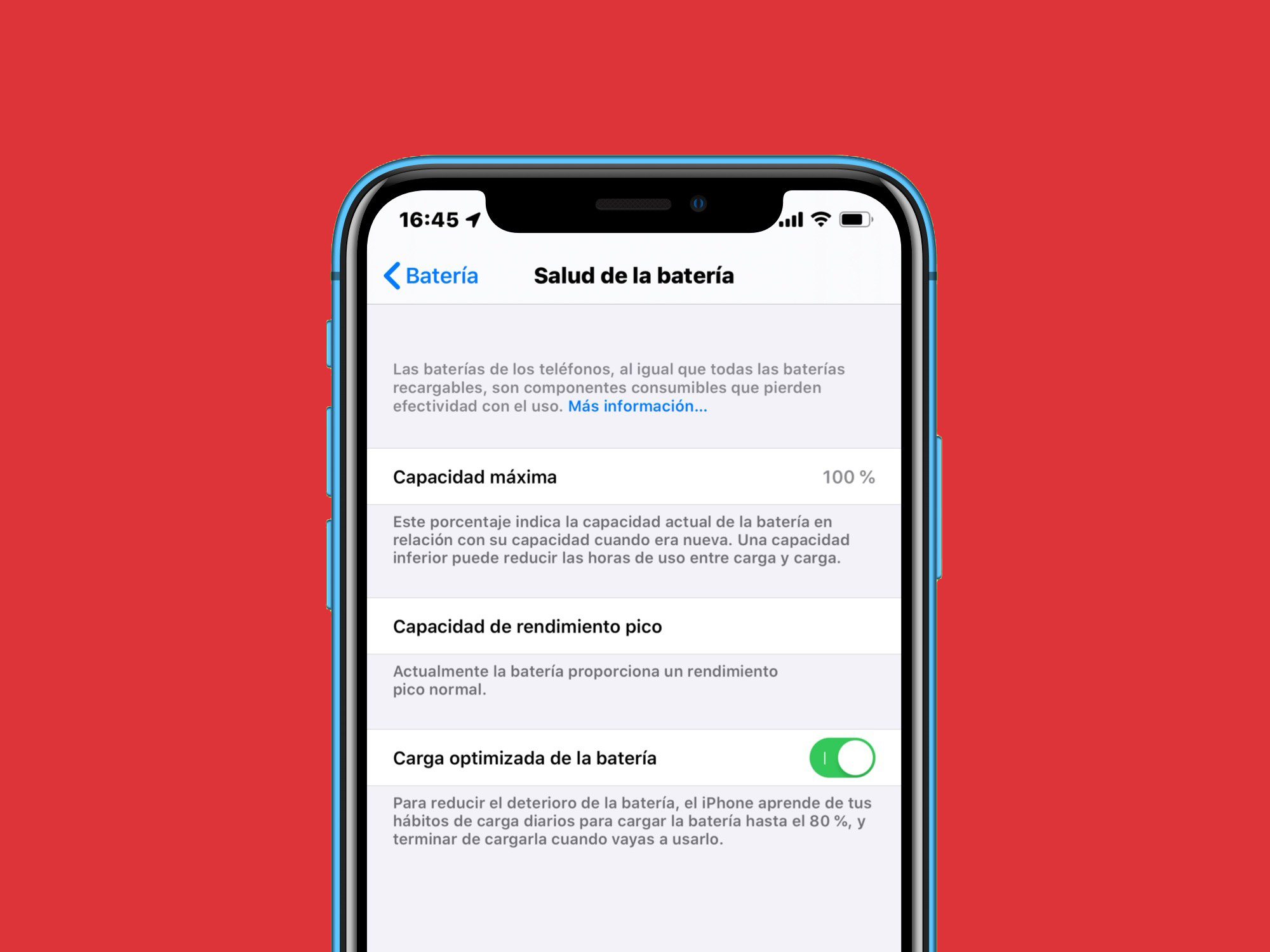 Tu pila ya no se degradará… CARGA OPTIMIZADA PARA BATERÍA en iOS 13